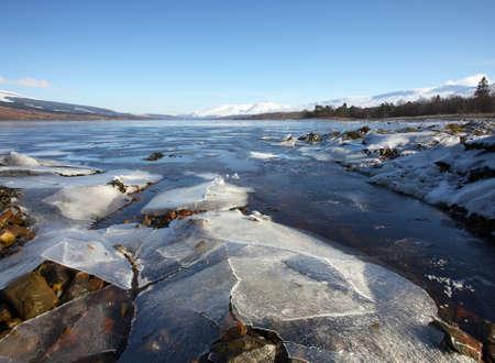 Ben Nevis and Loch Eil in winter   photo