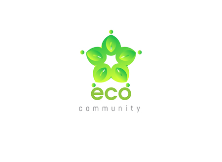 elegance: Ecology community . Green leaves nature. Eco elegance concept elements