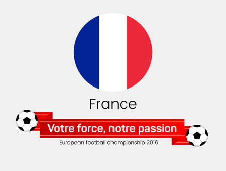championship: European football championship 2016. Flag of  France