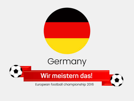 European football championship 2016. Flag of  Germany