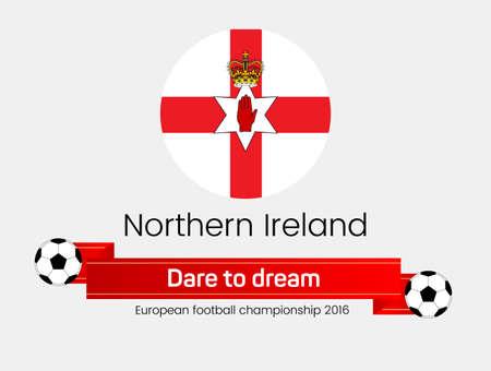northern: European football championship 2016. Flag of Northern Ireland
