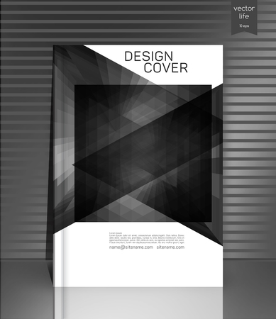 optimum: Cover design. The modern concept of cover design in the polygonal style. Photorealistic image covers for books, notebooks, annual report. The optimum combination of graphics, text free space