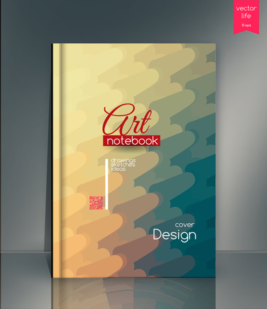 picturesque: Modern colored cover. Creative cover. The effect of bright light. Cover for the companys environmental, energy, and environmental organizations. Vivid Parallel lines forming picturesque texture.