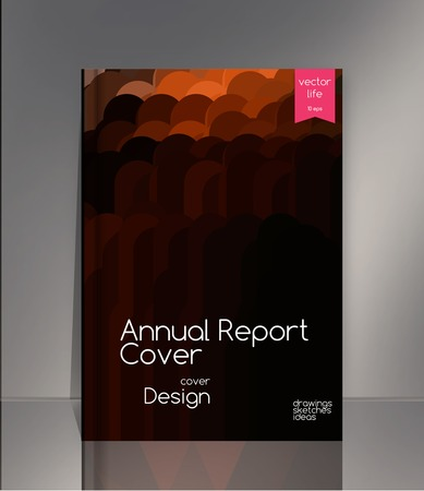 line design: Annual report cover. Creative cover. The effect of bright light. Annual report cover for the companys environmental, energy, and environmental organizations. Vivid Parallel lines forming picturesque texture. Vector cover design