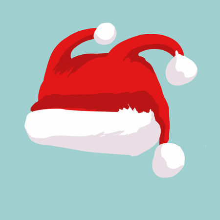 Rooster Santa hat concept 2017, Christmas image
