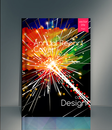 Cover design. The modern concept of cover design in the polygonal style. Photorealistic vector image covers for books, notebooks, annual report. The optimum combination of graphics, text free space Illustration