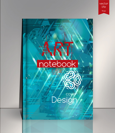 notebook cover: Cover design for Annual Report, Catalog or Magazine, Book or Brochure, Booklet or flyer. Illustration