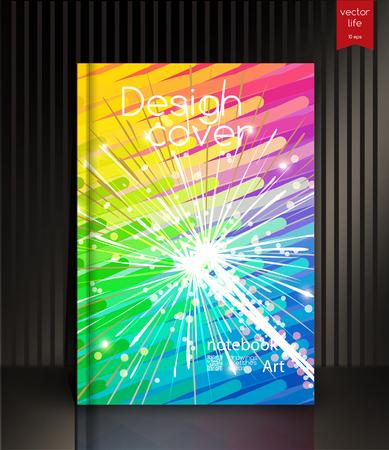 Cover design. Colorful picturesque backgrounds for books, brochures, notebooks. Illusztráció