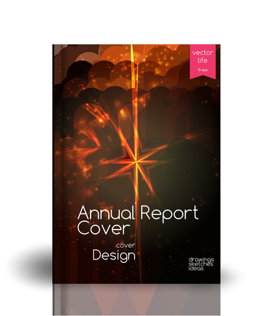 Colorful cover. Background for annual reports, books. Illustration