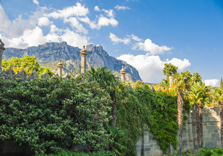 voroncov: View of Mount Ai-Petri from Vorontsov Palace Patio