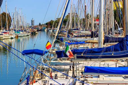 marina at the port of Rimini, Italy Stock Photo