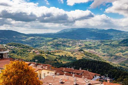 Scenic view of San Marino from Mount Titan