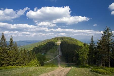 Beautiful polish mountains Beskidy  Summer landscape  Stock Photo