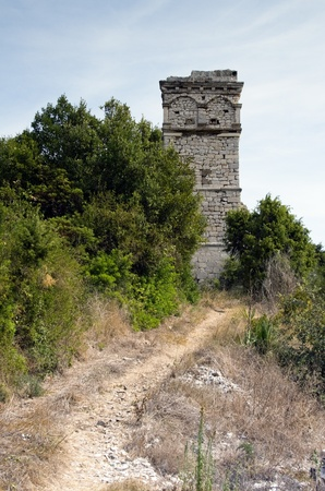 A beautiful view on castle in Croatia  Summer landscape on Scedro island