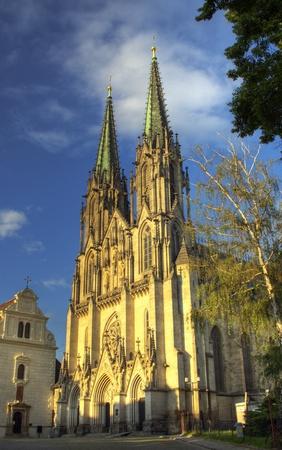 olomouc: Architecture of old cathedral in Olomouc  Czech Republic