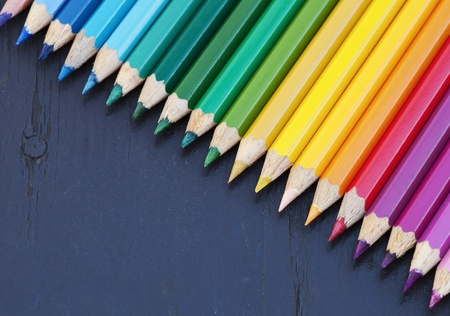 Group of colored pencils  Back to school concept