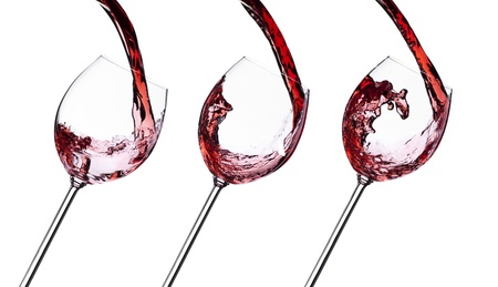Set of red wine splash isolated on white background. Food concept.