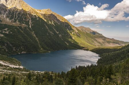 Morskie Oko one of the most beautiful lakes in the Tatra mountains.