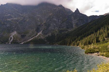 Beautiful landscape of mountain lake. High Tatras. Poland