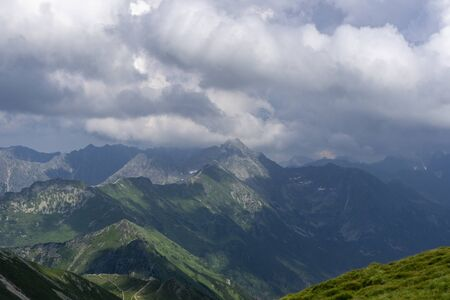 Storm clouds over the mountain range. Tatra Mountains.