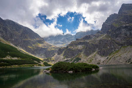 Black Pond Gasienicowy beautiful clean lake in the Polish Tatra Mountains.