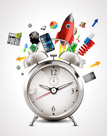 Alarm clock - time management Stock Vector - 47506354