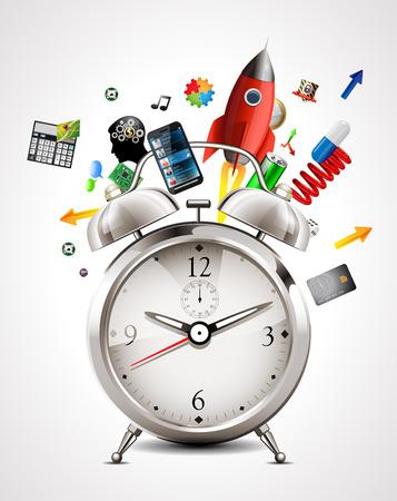 Réveil - gestion du temps Banque d'images - 47506354