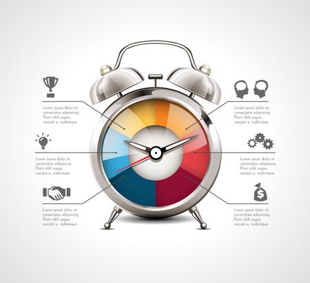 Réveil - gestion du temps Banque d'images - 47506355