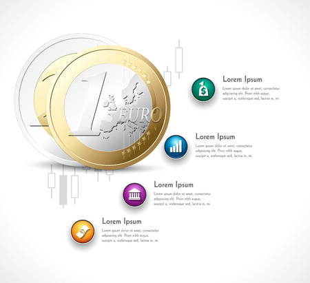 price gain: Business investment process on the stock exchange - euro money