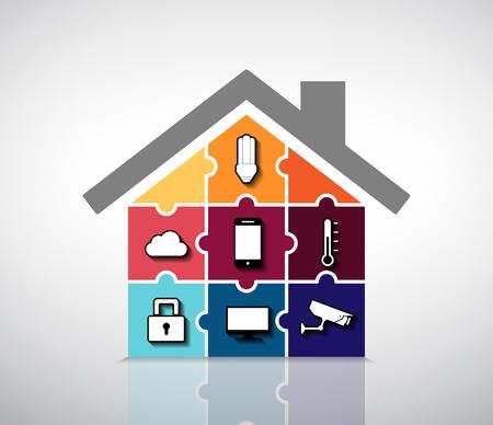 ホーム ・ オートメーション - スマートハウス情報グラフィック