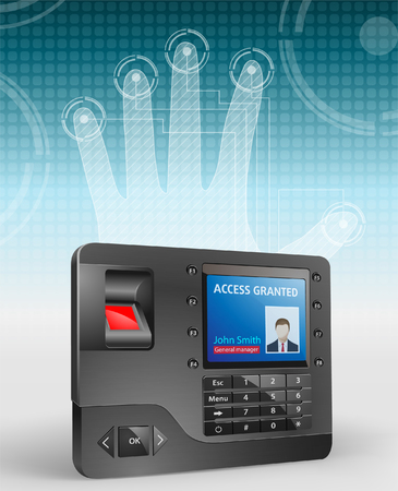 biometric: Access - Biometric fingerprint reader Illustration