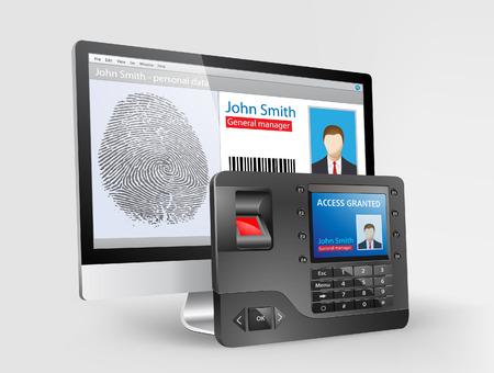 Zugang - biometrischer Fingerabdruckleser