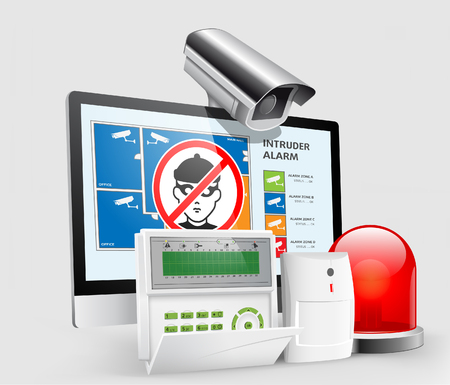 control system: Access - Intruder alarms, CCTV security - alarm system