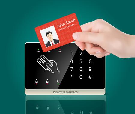 Zugangskontrolle - Proximity-Kartenleser Standard-Bild - 47856690