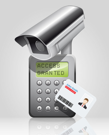 security icon: Access control system - time attendance