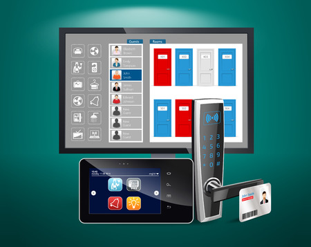 hotel lobby: Access control and management system for Hotels and Hospitals