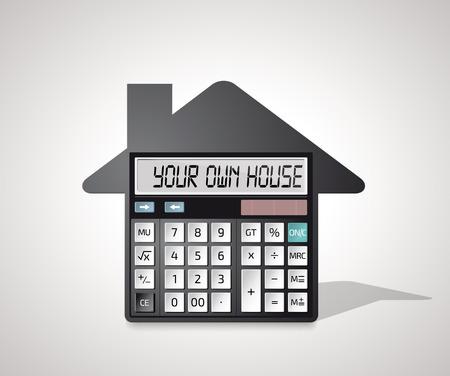 自分の家、銀行クレジットの計算-