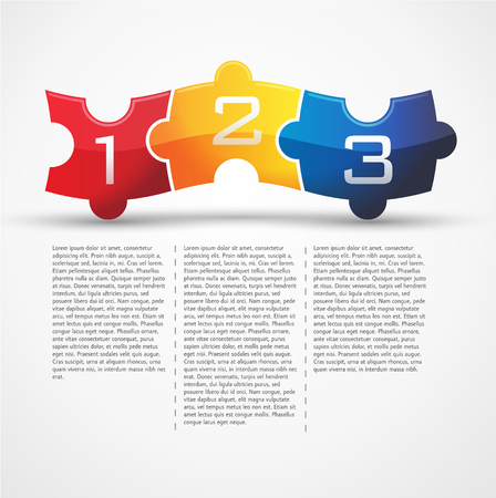 red yellow: 3 puzzle - red, yellow and blue Illustration