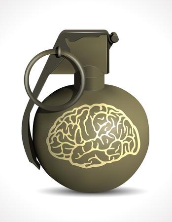 brain damage: Grenade - Brain Damage Illustration