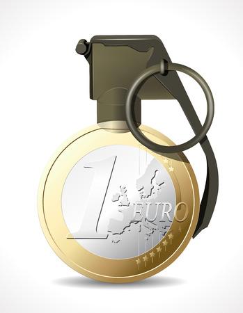 european euro: Grenade - Euro explosion - European crisis