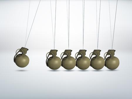 grenade: Grenade - Newtons cradle