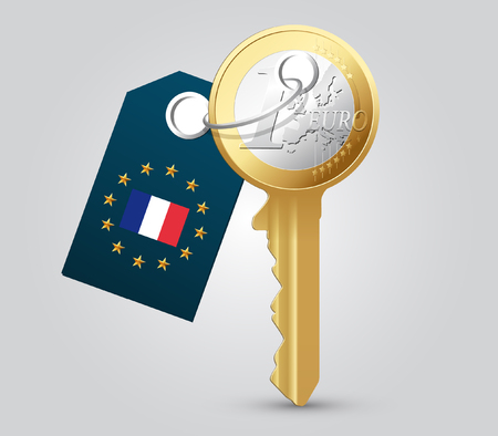 home finances: Euro key - money concept - France