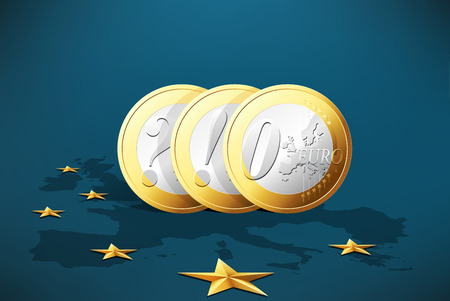 economic depression: European crisis - currency symbol