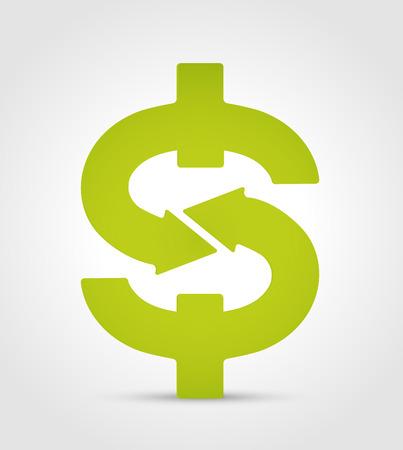 Simbolo del dollaro - concetto di commercio - denaro icona