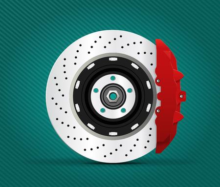 brake pad: Car part - Brake Illustration