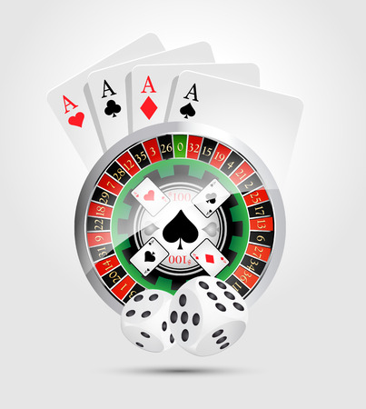 casino machine: Casino - money winning Illustration