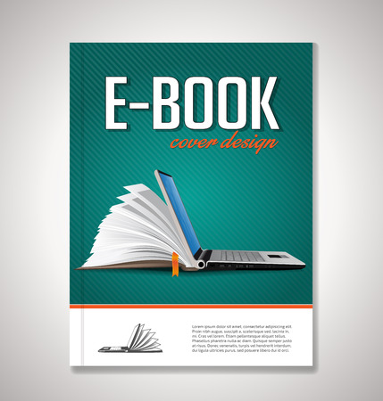 E-book conception de la couverture Banque d'images - 48517454