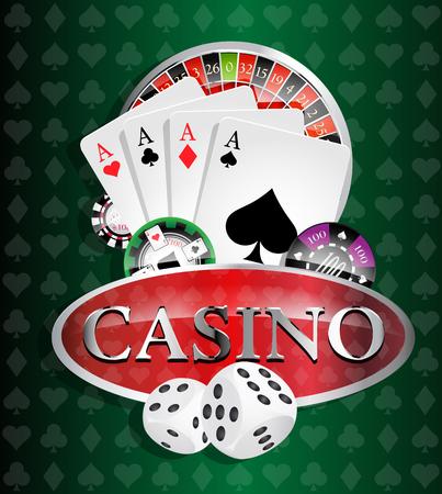 カジノ 4 エース  イラスト・ベクター素材