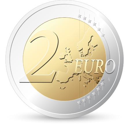 2 ユーロの欧州通貨