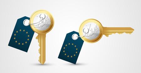 tenancy: Euro key as money concept